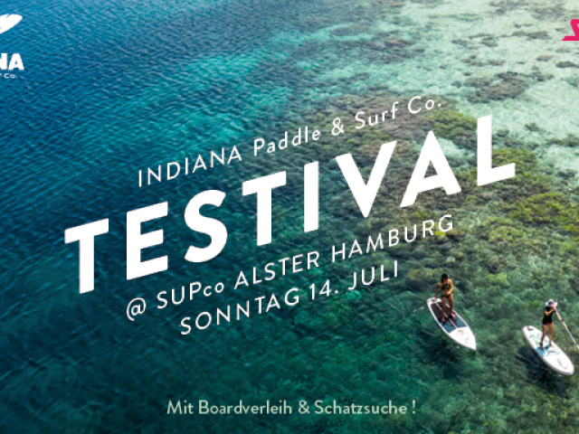 Indiana Paddle & Surf Testival at SUPco Alster Hamburg