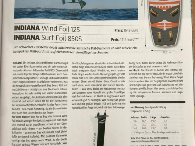 Our Wind Foil 125 gets tested